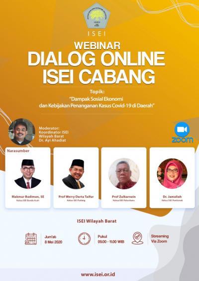 Webinar Dialog Online: Dampak Sosial, Ekonomi dan Penanganan COVID di daerah