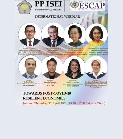 INTERNATIONAL WEBINAR : TOWARDS POST-COVID-19 RESILIENT ECONOMIES